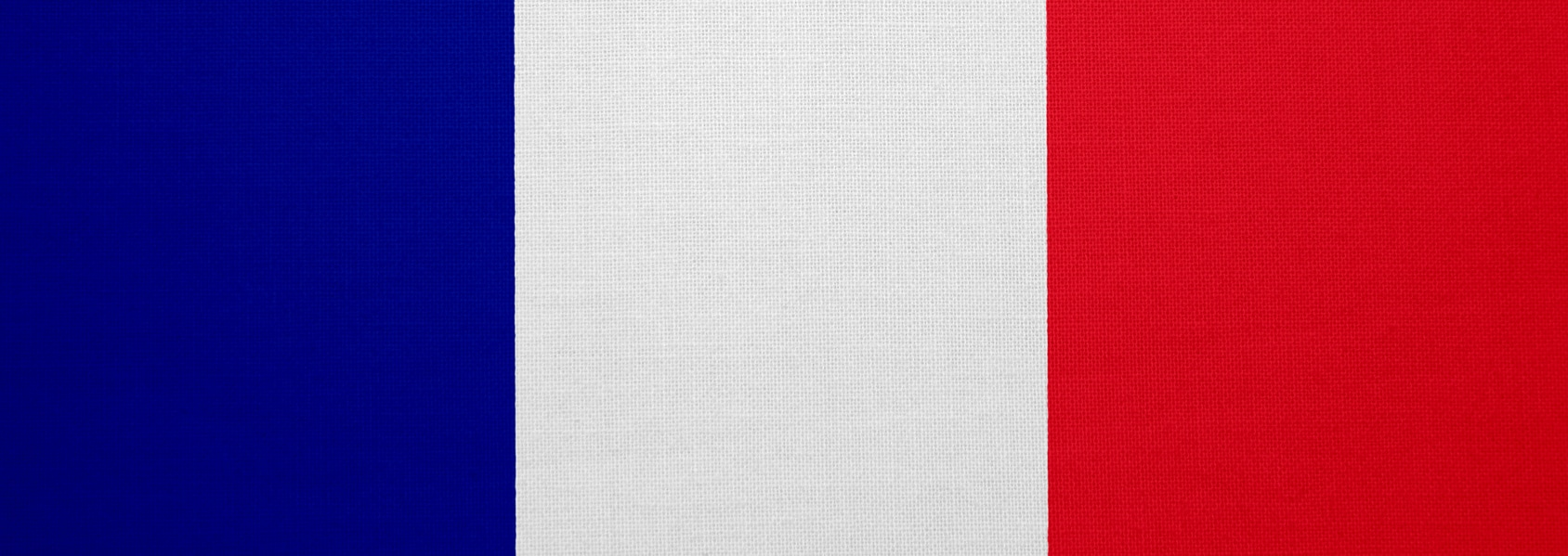 France flag with fabric texture